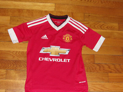 Fan Apparel & Souvenirs New Adidas Climacool Manchester United Short Sleeve Soccer Jersey Boys Xl