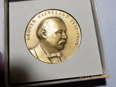 "GROVER CLEVELAND - Hall of Fame for Great Americans at NY Univ. 1-3/4"" Medal"