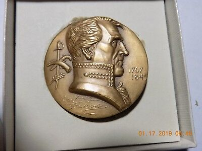 "ANDREW JACKSON - Hall of Fame for Great Americans at NY Univ. 1-3/4"" Medal"