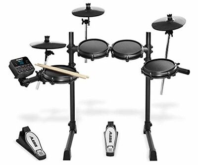 Alesis Turbo Mesh Kit 7-teiliges E-Drum-Set mit Mesh-Heads, super solidem Alumin