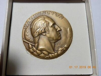"GEORGE WASHINGTON - Hall of Fame for Great Americans at NY Univ. 1-3/4"" Medal"