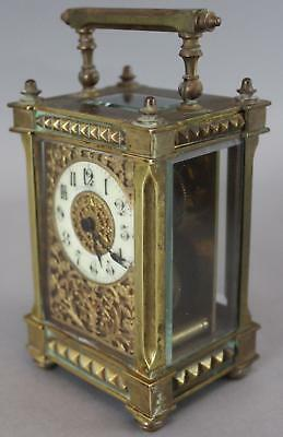 Antique 19thC French Gilded Bronze Overlay Repeater Carriage Clock J.E. CALDWELL