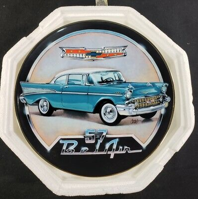 Franklin Mint Royal Doulton 1957 Chevy Bel Air Limited Edition Plate