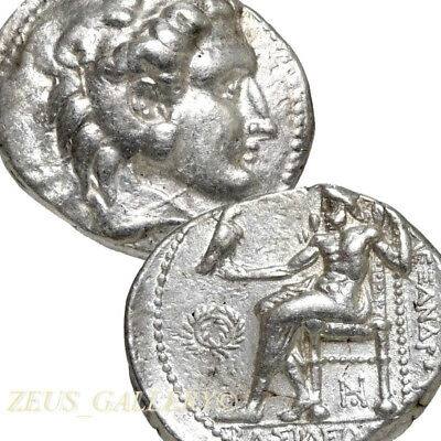 ALEXANDER the GREAT Tetradrachm R! Phoenicia mint Zeus Ancient Greek Silver Coin