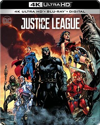 Justice League Limited Edition SteelBook (4K Ultra HDBlu-ray 2018 Digital) NEW