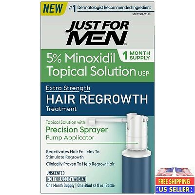 Just for Men EXTRA STRENGTH Hair Regrowth Treatment 1-Month Supply 5% Minoxidil