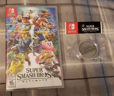 BRAND NEW Super Smash Bros. ULTIMATE Switch Video Game With Collectible Coin