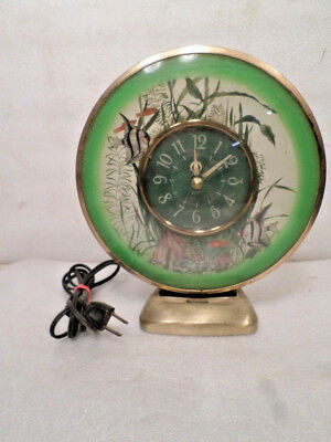 Vintage Sessions Lighted Fish Clock --Very Interesting Mystery Style Clock