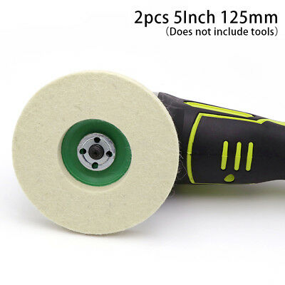 Polishing Buffing Grinding Wheel Wool Felt Polisher Disc Pad 125mm/5inch