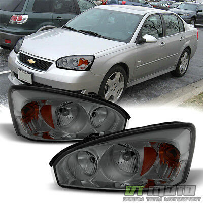 Smoked 2004 2008 Chevy Malibu Replacement Headlights Headlamps 04 08 Left Right