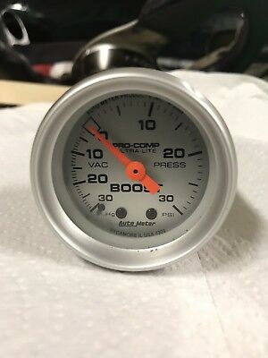 autometer pro comp ultra lite boost Gauge 30psi Used