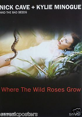 """Nick Cave & Kylie Minogue  """"where The Wild Roses Grow"""" U.k. Promo Poster"""