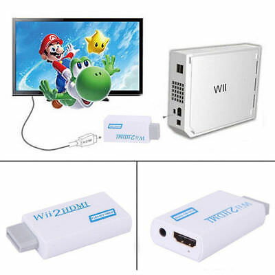 720p 1080p Full HD TV Nintendo Wii auf HDMI Adapter Konverter Stick Upskaler