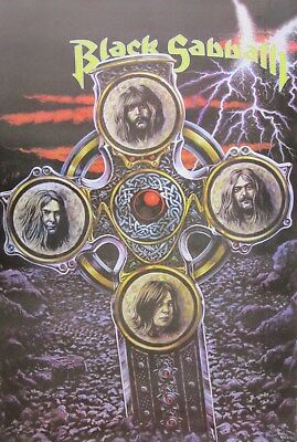 """BLACK SABBATH """"BAND ON CROSS"""" POSTER FROM ASIA- Heavy Metal Music, Ozzy Osbourne"""