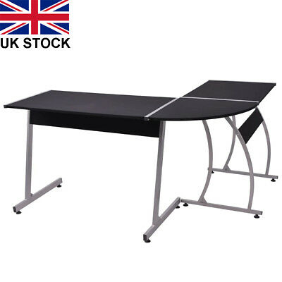 Office Computer Writing Desk Home Gaming PC Furnitur Corner Table L-Shaped UK