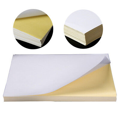 AU 100 Sheets A4 Label Sticker Office Printing Paper Self Adhesive For Printer