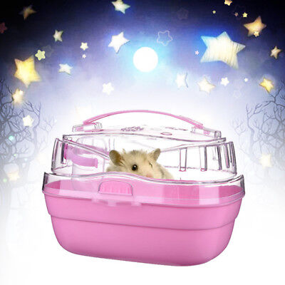 Pet Hamster House Travel Carrier Plastic Small Animal Dwarf House Cage Sale FAST