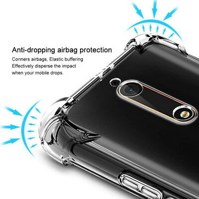 For Nokia 3.1 7.1 5.1 6.1 7 PLUS 9 5 8 2 3 Airbag Shockproof Clear Soft TPU Case