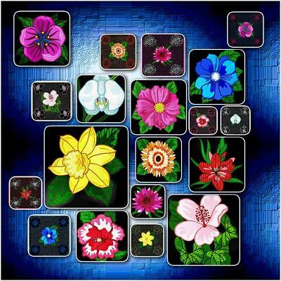 Single Flowers And Blocks 20 Machine Embroidery Designs Cd 4 Sizes Pus Extra