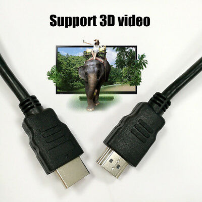 1M 1080P HDR HDTV ARC 4K Braided Ultra HD HDMI Cable V2.0 High Speed Wire Black