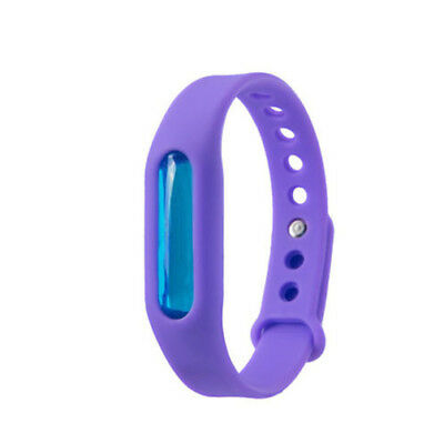 Anti Mosquito Pest Insect Bugs Repellent Repeller Wrist Band Bracelet Purple D