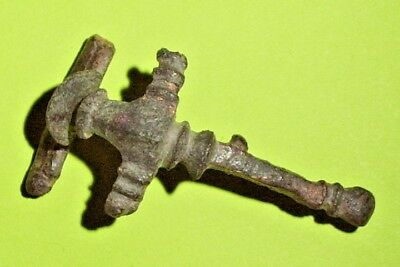 Genuine Roman HOD HILL BROOCH jewelry artifact fibula old antique collection VF
