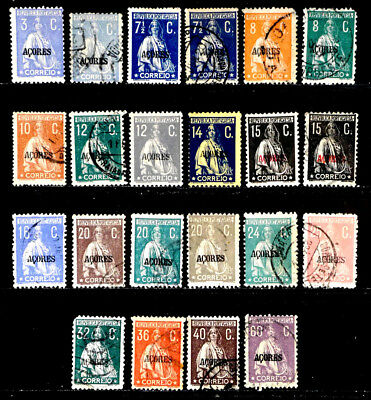Azores, Portugal: 1917-26 Classic Era Stamp Collection Ceres