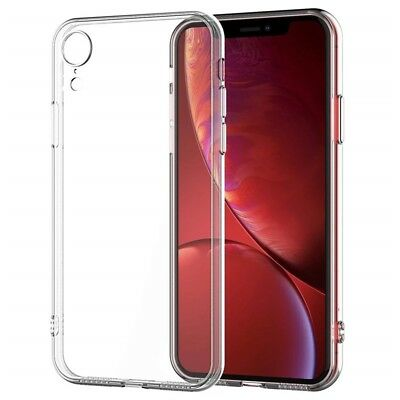 iPhone XR Case (Clear Transparent Case Shock Absorption TPU Soft Cover) & (USA)