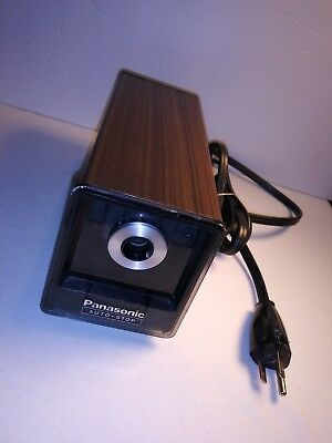 Veg Panasonic Auto-Stop Wood Grain Electric Pencil Sharpener kp-77n Works