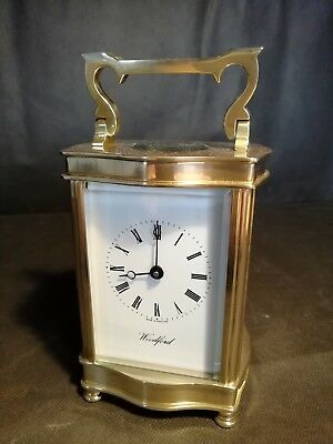 Shaped Woodford Carriage Clock