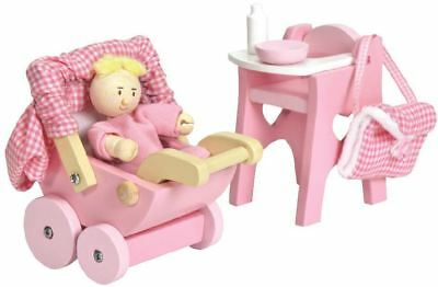 Le Toy Van NURSERY SET Wooden Doll House Accessory Kids/Children Play Toy BN