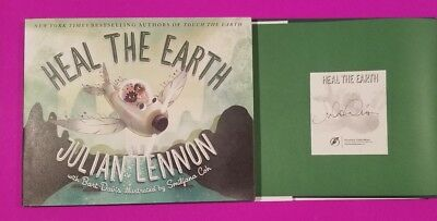 "Julian Lennon Signed Book ""heal The Earth"" With Authenticity - John Beatles"
