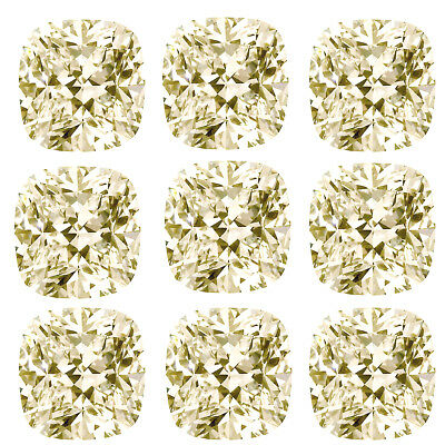 4.68ct VVS1-8pc-0.40-0.70ct=OFF WHITE COLOR LOOSE CUSHION ROSE MOISSANITE/ring