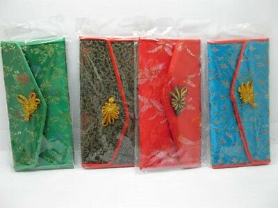 10 Beautiful Chinese Silk 3-Folding Purses 17x8.5cm