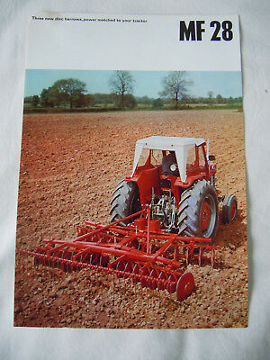 @Vintage Massey Ferguson 28 Disc Harrows Brochure@