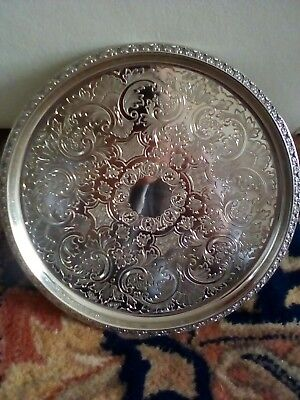 Silver plated tray IANTHE Made In England Serving Tray