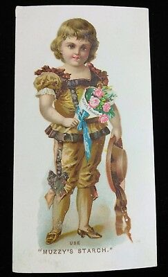 Vtg 1880's Trade Card- Muzzy Starch Co. With Recipe's Corn Starch Elkhart Ind.