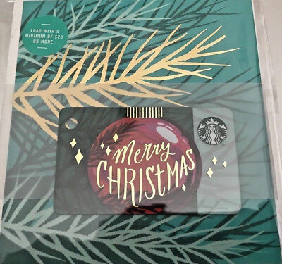"Starbucks ©2018 Christmas Mini ""merry Christmas Gift Card Set"""