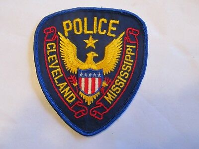 Mississippi Cleveland Police Patch Old Cheese Cloth