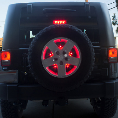 Spare Tire 10LED 3rd Red Brake Tail Light Car Lamp For 07-17 Jeep Wrangler JK