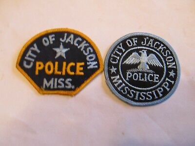 Mississippi Jackson Police Patch Set Left Cheese Cloth