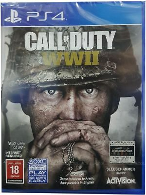 Call of Duty: WWII (PS4) BRAND NEW SEALED SHOOTER WORLD WAR MULTI BOX