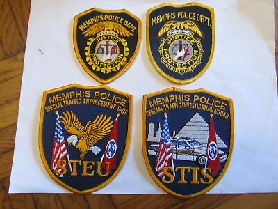 Tennessee Memphis Police Patch Set diff & Traffic Set