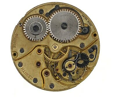 Zenith Swiss Wristwatch Movement Spares Or Repairs  H43