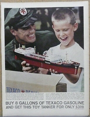 Texaco Toy Ship Tanker Ad 1962 Print Ad