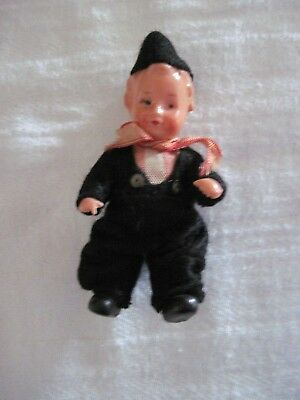 """Vintage Antique 3"""" Celluloid Navy Sailor Doll, Made in Japan 1940s"""