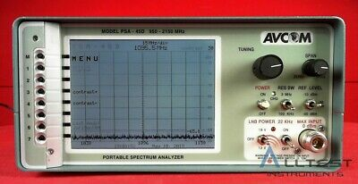 Avcom PSA-45D L-Band Portable Spectrum Analyzer 950-2150 MHz