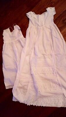 Antique Babys  long christening Gown