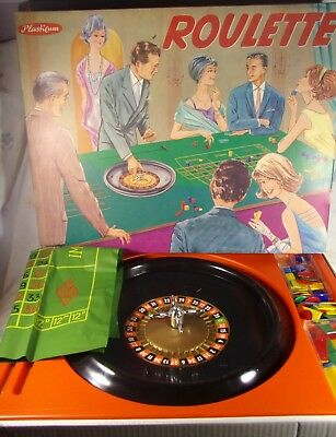 "Vintage PLASTICUM Roulette Game  Made In Germany HUge 1940s? MIB 20"" x 15.5 Rare"