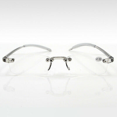 New Ultra-High-End Men And Women-Reading-Glasses Rimless-Frame Memory-New Magic